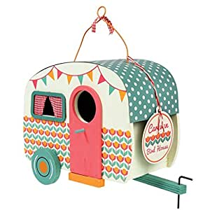 dotcomgiftshop Vintage Caravan Shaped Birdhouse