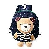 NHsunray Kinder Anti-verloren Rucksack, Baby Kind Kleinkind Walking Sicherheitsgeschirr Disney Rucksack für 1 bis 3 Jahre alt (Dunkelblau)