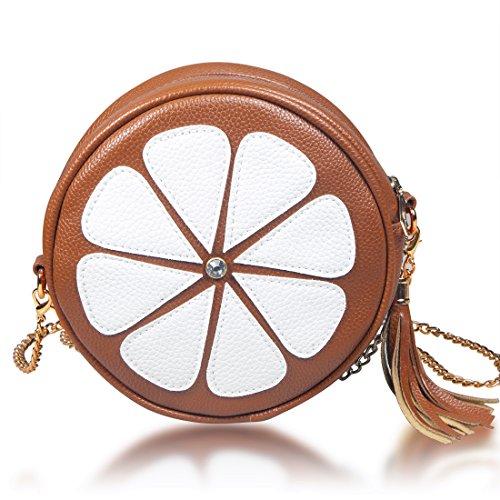 DRF Borsa a Spalla in PU da Donna Carino Design per Portafolio #BGW30 Marrone