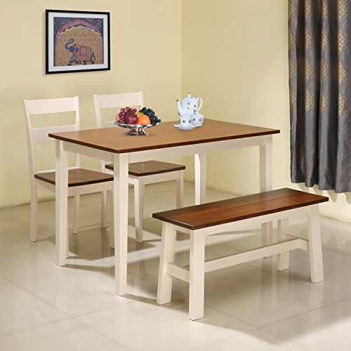 @home by Nilkamal Panjin Four Seater Dining Table Set (Antique Oak)  available at amazon for Rs.13900
