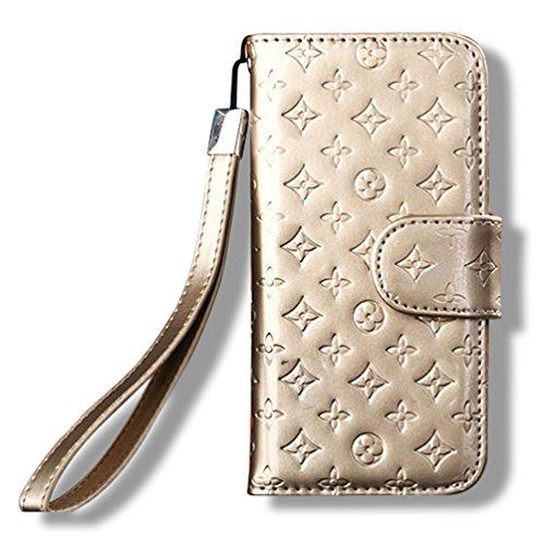 Shiny Patent Leder Brieftasche Stil Handy Fall coverf3m9 Shiny Patent