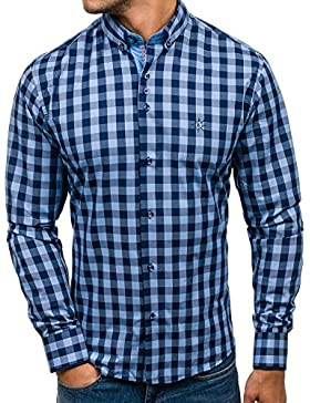 BOLF - Camicia casual - maniche lunghe - scacchi – BOLF 5816 – Uomo