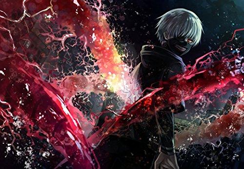 Tokyo Ghoul - Manga Series Sui Ishida Japanese Anime fabric poster 36x24 / 20x13 by okitem