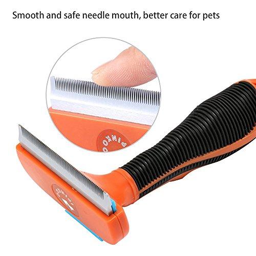 Hundebürste Pflegetrimmer Anti-Haaren deShedding Tool für Hunde, Katzen, Pferde und andere Haustiere Größe M - 5