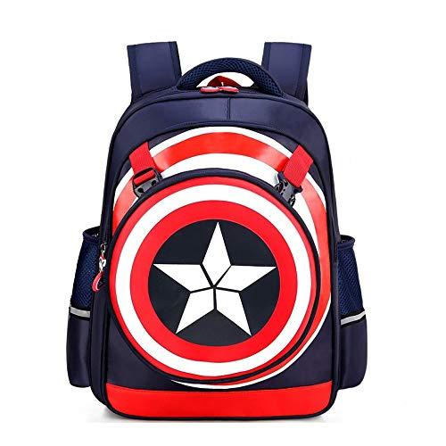a4300be49a JIAN Bambini 3D Captain America Shield Zaino Cartoon Anime Leggero  Impermeabile Indossabile Borsa di Grande capacità