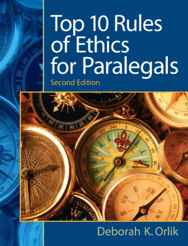 Preisvergleich Produktbild Top 10 Rules of Ethics for Paralegals: Top 10 Rules Ethic Paral _2
