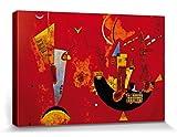 1art1 81853 Wassily Kandinsky - Mit Und Gegen, 1929 Poster Leinwandbild Auf Keilrahmen 120 x 80 cm