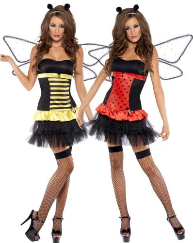 SMIFFYS Fever Reversible Bumble Bee / Lady Bug Costume (Bumble Bee Womens Kostüm)