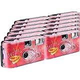 TopShot Lot de 12 appareils photo jetables avec flash 27 poses