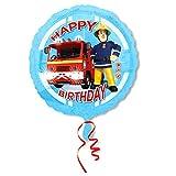 Procos S.A. Happy Birthday Fireman | Globos Aluminio 45 cm | Sam El Bombero | Niños Fiesta