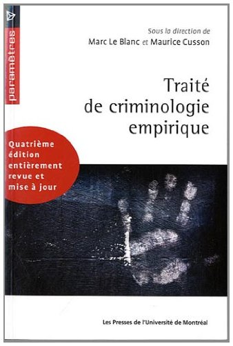 Trait de criminologie empirique