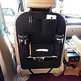 #1: ShopAIS Car Backseat Storage Bag Functional Organizer 6 Pocket - Black