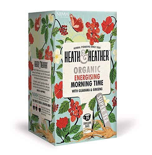 Heath & Heather Infusión Orgánica con manzana, hibisco, guaraná y ginseng - 6 x 20 bolsitas de té (240 gramos)