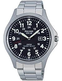 Pulsar Herren-Armbanduhr XL Sport Analog Quarz Edelstahl PX3003X1