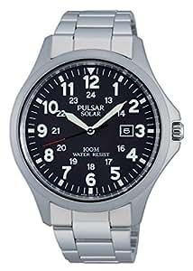 Pulsar - PX3003X1 - Montre Homme - Quartz - Analogique - Solaire/Lumineuses/Boussole - Bracelet Acier Inoxydable Argent