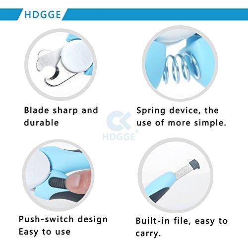 Nagel-Klipper-beste Berufshunde-Nagelscherer mit FREIER Nagel-Akte. Haustier-Greifer-Trimmer mit einzigartiger angehobener Spitze, super scharfe Klingen und bequemer Gummi-Beleg-freie Griffe. Geeignet für kleine, mittlere und große Hunde. (DOG-600 Blue) - 6