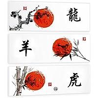Stempe su Tela Giapponesi Arredamento Quadri Canvas