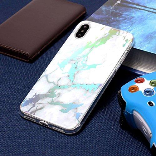 Unbekannt Dean Telefon Rückseite Entworfen for iPhone X Schale, blaues Goldmarmormuster-weiche stoßsichere Schutzabdeckung (Artikelnummer : Ipxg9012d)