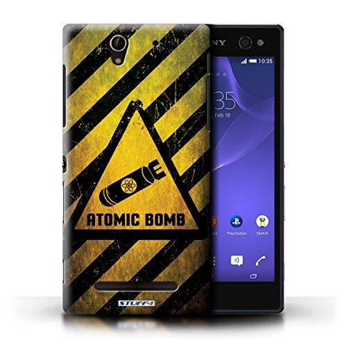 Coque de Stuff4 / Coque pour Sony Xperia C3 / Bruit/Musique Design / Signes de Danger Collection Bombe Atomique