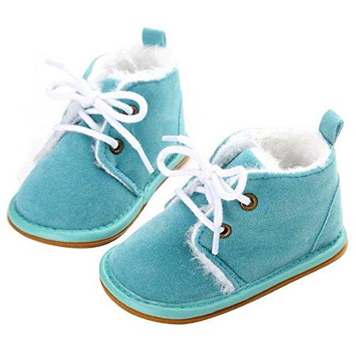 Covermason Baby Gummisohle Kleinkind Schuhe Krippe Schuhe Schneestiefel Lauflernschuhe Himmelblau