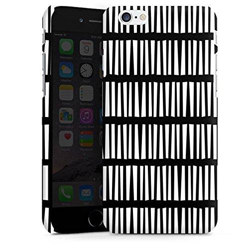 Apple iPhone 5 Housse Outdoor Étui militaire Coque Lignes Bandes Noir et blanc Cas Premium mat