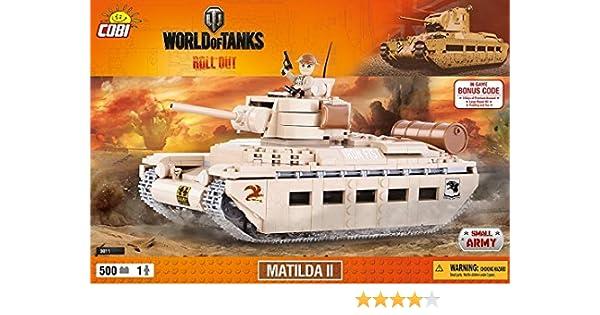 Konstruktion Spielzeug kleine Armee Panzer Matilda II World of Tanks Bausteine