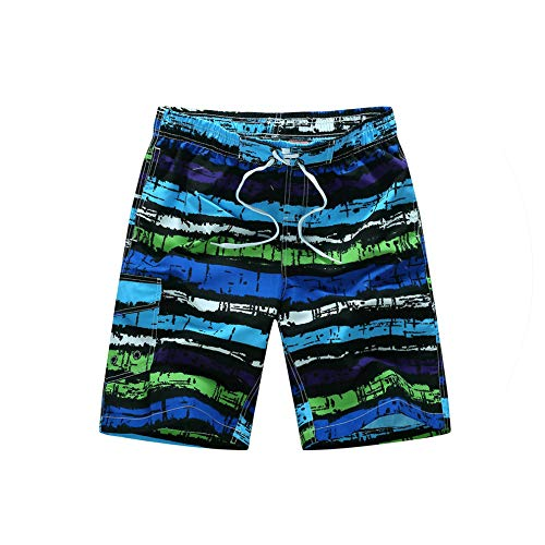 Summer Mens Shorts Hot Casual Striped Board Shorts Men Swimwear,Purple,XXL (Forever 21 Jogger)