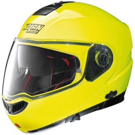 NOLAN-Casco-N104 Absolute Hi Visibility N-Com, color amarillo