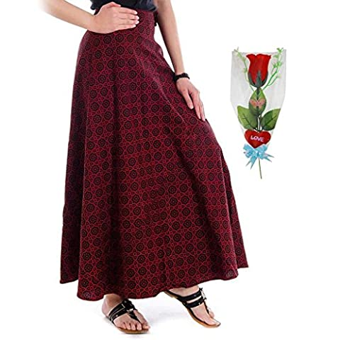 Buy Festive Gift Artificial Red Rose & Women's Wraprons