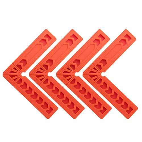 Homyl 4 Stück 90-Grad L Form Präzision Holzbearbeitung Werkzeuge Positionierung Quadrate Mini Square