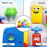 FUNTOK Badespielzeug Wasserspiel Wasserspielzeug Badewannenspielzeug Wasserspaß Spielzeug Dusche Spielzeug Creative Cartoon Portable Wasser Sprinkler System mit Sucker Early Education Interaktive - 3