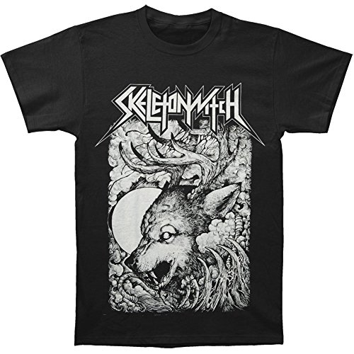 Arnoldo Blacksjd Skeletonwitch Men's Wolf T-shirt Black X-Large