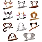 Adults Animal Ears Headband & Tail Se...