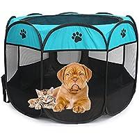 Caseta para perros de entrenamiento para interior, también para uso exterior o para gato. Plegable, portátil, para pequeños animales de talla media, 2tamaños disponibles.
