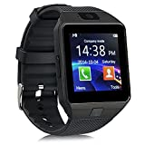 Bluetooth Smartwatch ZKCREATION Intelligente Uhr K9 Smart watches Fitness-Tracker Anruferinnerung Informationen Wasserdichtes Leben Kompatibel mit Android und IOS(Schwarz)
