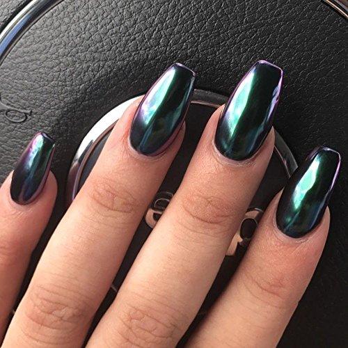 Ushion chrome effect powder polvere effetto specchio nail - Unghie argento specchio ...
