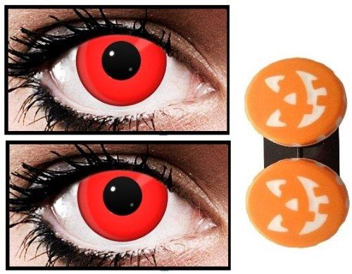 Scary Halloween Zombie 1 Tag Verwenden Blutrot Kontaktlinsen