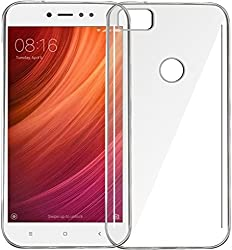 Anmol Exclusive Soft Silicone TPU Jelly Crystal Clear Case Soft Back Case For Mi Xiaomi Redmi Y1 -Transparent