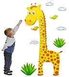 Unbekannt 10 tlg. Set XL Wandsticker Meßlatte - Wandtattoo Giraffe Messlatte Tiere Aufkleber Wandaufkleber - selbstklebend für Wohnzimmer und Kinderzimmer Deko Sticker
