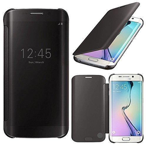 Samsung Galaxy S6 edge SM-G925F Housse HCN PHONE® Coque Etui Clear View Cover pour Samsung Galaxy S6 edge SM-G925F - NOIR
