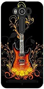 The Racoon Grip printed designer hard back mobile phone case cover for Asus Zenfone 2 Laser ZE550KL. (Guitar)