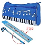 All Products : PUNK Waterproof Zipper Pen Bag Music Theme Keyboard Style Pencil Case 4 Colors with Cartoon Music Note Pencil Ruler Gift