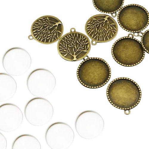 pandahall-lot-de-10kits-supports-pendentifs-cabochons-en-verre-domes-sans-cadmiumsans-nickelsans-plo