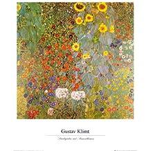 Lámina 'Jardín campestre con girasoles', de Gustav Klimt, Tamaño: 41 x 51 cm