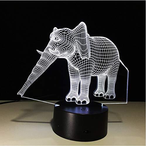 Luces Nocturnas Luces De Elefantes Elegantes Ilusión 3D Increíble Luces De Luces...