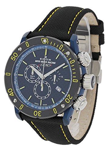 EDOX–Reloj de pulsera para hombre CHRONO ffshore 1–Miss Geico Racing 113–Limited Edition Cronógrafo Fecha Analógico de Cuarzo 10221357buj buj113