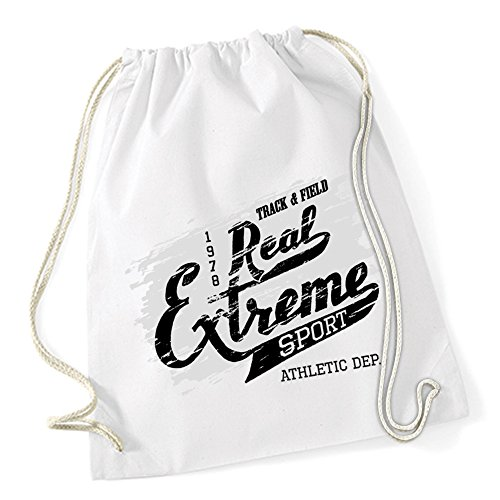 Real Extrem Sport Sac De Gym Blanc Certified Freak