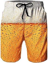Loveternal Hombre Pantalones Cortos de Playa Secado Rápido Bañador Estampado Beach Shorts