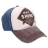 Kingko® Unisex Cotton Fashion HipHop Twill Snapback Colorful Baseball cap Sun Hat (Coffee)