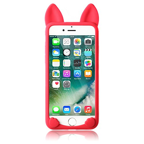 iPhone 6S Plus 5,5 Zoll Hüllen, TechCode® Niedlich 3D Cartoon Katze Tier Typ Gel Weich Case Stoßfest Apple iPhone 6 Plus 5.5'' (iPhone 6 Plus, A01) A06